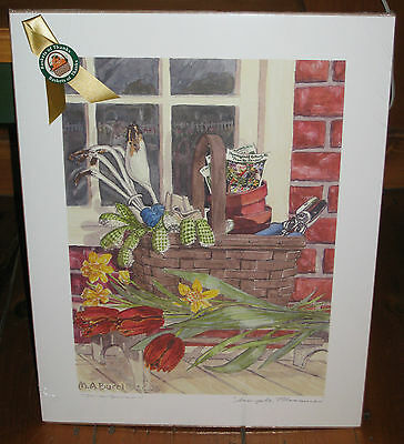 "Longaberger Award Print by M. A, Bucci 2005 Simple Pleasures 9 3/4"" X13 1/2"" New"