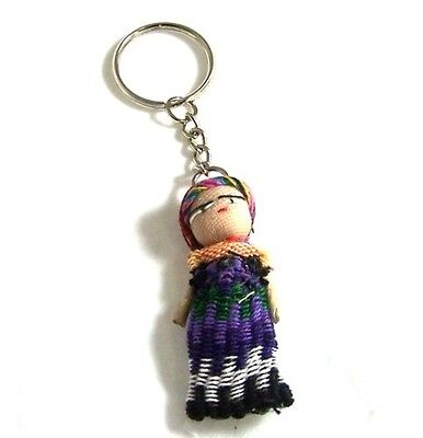New Guatemalan Worry Doll Dolls Keyring By Mayan Artisans Fair Trade