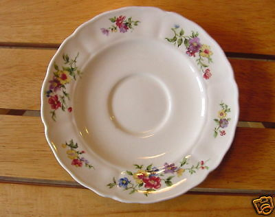 Grindley England 2 cream soup saucers underplates Marlborough Royal Petal