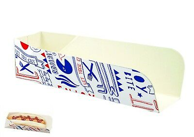 100 Hot Dog Trays Boxes Parties Bbqs Disposable Fast Food Catering Packaging