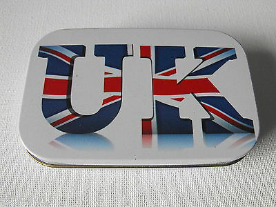 "1 oz HINGED TIN ""UK"" UNION JACK"