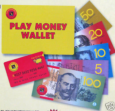 Realistic Australian Play Money Toy Coated Notes Teacher Resource won't tear