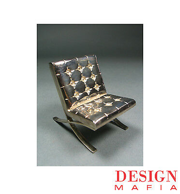 """Mies van der Rohe Sterling Silver Mini """"Barcelona"""" Chair by ACME Studio NEW"""