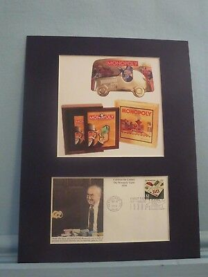 Parker Brothers' Board Game Monopoly & First day Cover
