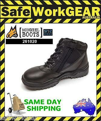 SIZE 7 AUS/UK Mongrel Safety Work Boot (261020) Low Cut Black Steel Cap