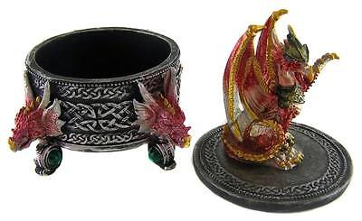 Collectable DECORATIVE ORNATE GOTHIC DRAGON TRINKET JEWELLERY BOX - New Arrival