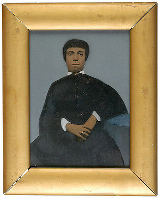 Museum Quality Tintype Of A Young Black Woman