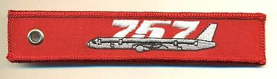 Boeing 757 Remove Before Flight Red Keychain