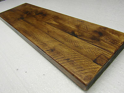 "12""/300mm DEEP FLOATING SHELVES RECLAIMED ALCOVE CHUNKY RUSTIC WOOD SHELF"