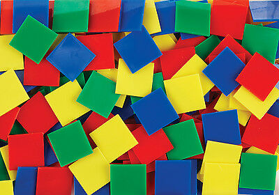100 Square Counters Tiles Counting Sorting Maths Games