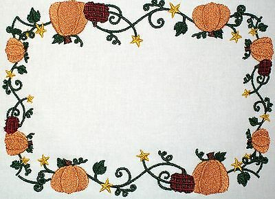 Pumpkins Embroidered Quilt Label Customize for quilt tops or blocks