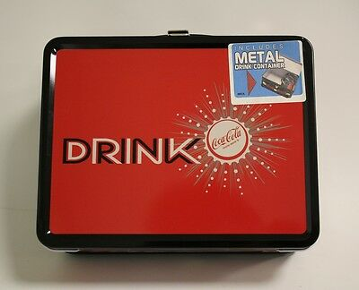 NECA Coke #2 - Drink Coca Cola - Vintage Metal Lunchbox w/ 12oz Drink Container