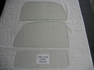 Ford Pickup Truck 1938 1939 Left And Right Door Glass And Back Glass Clear