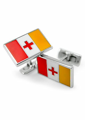 Kappa Alpha (Order) flag cuff links with enamel, NEW!!***