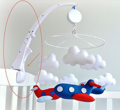 Crib Mobile Attachment Arm By Childress- Clamps to Crib for Baby in Nursery