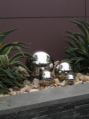Stainless Steel Mirror Balls : Pond Balls : Gazing Globes : Decorative Feature