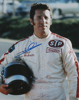 Mario Andretti Indy Car Series Formula One SIGNED 8x10 Photo COA!