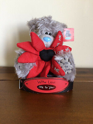 """Me To You 'Love Me' Flower Valentines Tatty Teddy Bear/Gift 6"""""""