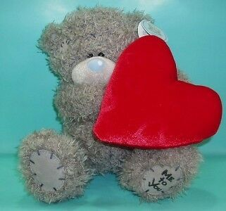 """Me To You Tatty Teddy 8"""" Bear Holding Large Red Heart Valentines Gift"""