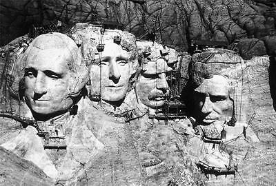 MOUNT RUSHMORE CONSTRUCTION GLOSSY POSTER PICTURE PHOTO historical monument 1462