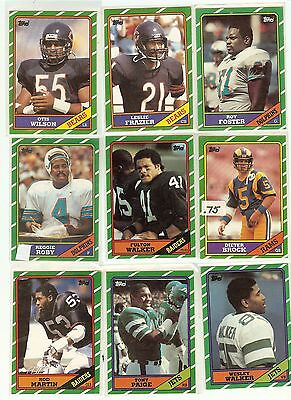 1986 Topps Football you pick commons 12 picks for $2.00 N M cond. and better