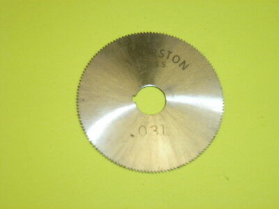 "NOS! THURSTON HSS SLITTING SAW BLADE, 1-1/2"" X .031"" X 5/16"", w/ SLOT"