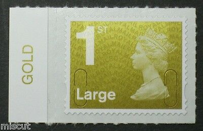 1st Large NVI - No Code - GOLD Colour Tab  from Counter Sheet SG; U2944
