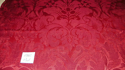 Red Victorian Print Damask Upholstery Fabric Remnant F992 49 95