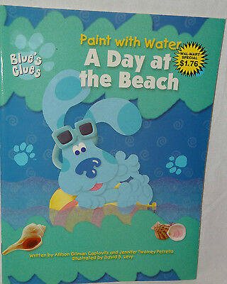 """New Blues Clues Coloring Book Paint With Water """"a Day At The Beach"""" Party Favors"""