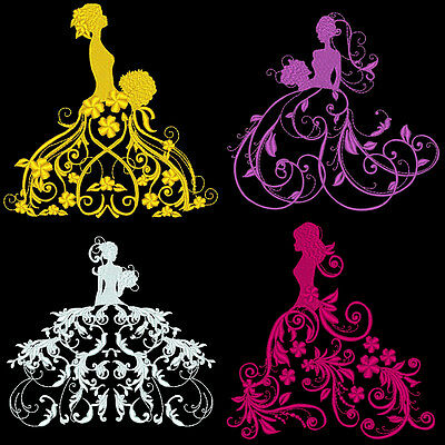 Fantasy Fashion Divas - 36 Machine Embroidery Design Pack (Azeb)