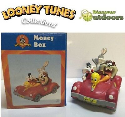 NEW Looney Tunes COLLECTIBLE Tweety Bugs Bunny SYLVESTER Tazi Car MONEY BOX