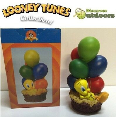 NEW Looney Tunes COLLECTIBLE Tweety Bird with BALLOONS Childrens MONEY Coin Box