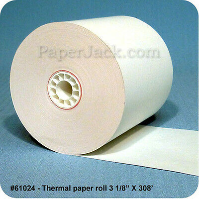 "#61024, Thermal Paper Rolls, 3 1/8"" x 308' - Case of 50 rolls"