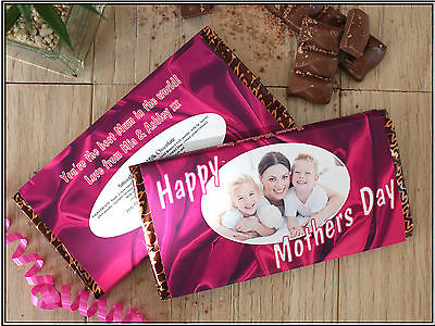 Personalised Mothers Day 114g Galaxy Chocolate Bar Best Mum For Her Gift N2