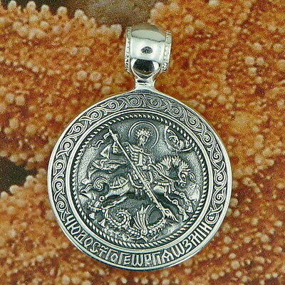 Sterling Silver .925 St.george Pendant