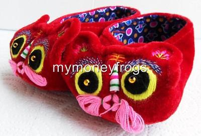 Chinese Oriental Baby Boy Girl Hand Made Embroidery Embroidered Tiger Shoes NEW
