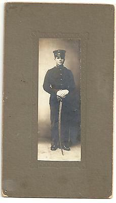 1902 PERIOD CABINET PHOTOGRAPH TROOPER 7TH CAVALRY TROOP B BIG TIMBER MONTANA