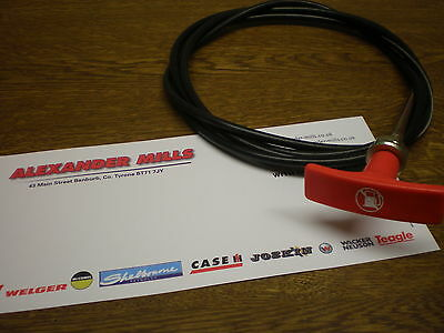Tractor Pull To Stop Stopper Cable T Handle Case Massey John Deere New Holland