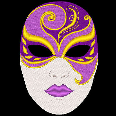 Fantasy Carnival Masks  - 36  Machine Embroidery Designs (Azeb)