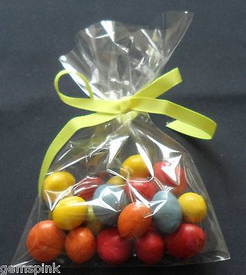 """100 x CLEAR CELLO DISPLAY BAGS FOR LOLLIPOPS CAKE POPS SWEETS 4 x 6"""" (100x150mm)"""