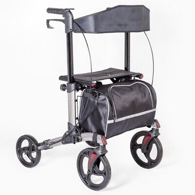 Elite Care Swift Easy Folding Compact lightweight Rollator with seat and bag