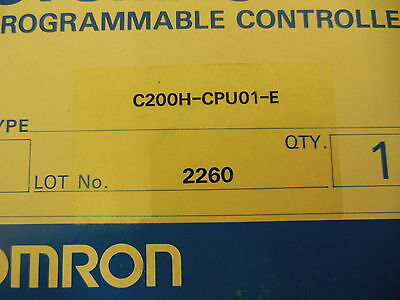 Omron C200H-CPU01-E Sysmac Programmable Controller New in Factory Sealed Box