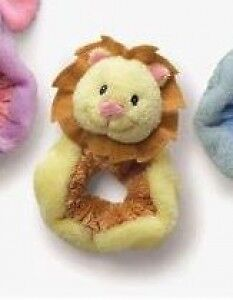 RUSS Berrie Lion Baby Wrist Rattle Soft Plush Toy/Shower Gift-Small
