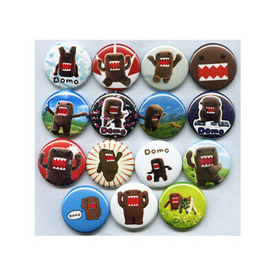 "DOMO 1"" PINS / BUTTONS (domokun kids toys tv show game plush badges)"