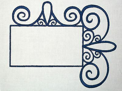 Wrought Iron Embroidered Quilt Label Customize for quilt tops or blocks