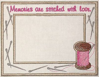 Thread and Needle Embroidered Quilt Label Customize for quilt tops or blocks