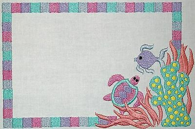 Under the Sea Embroidered Quilt Label Customize for quilt tops or blocks