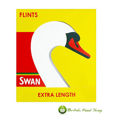 90 Swan Extra Length Lighter Flints Free Uk P&P Worldwide Shipping