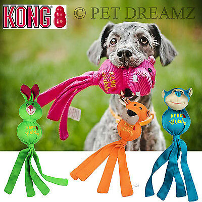 Kong Wubba Ballistic Small Large Extra Squeaky Dog Toy Tug Throw Fetch