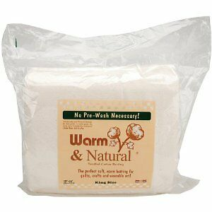 Warm and Natural Cotton - 124'' x 120'' (King Size) Wadding Batting For Quilting
